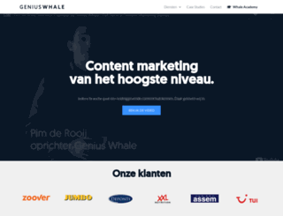 geniuswhale.com screenshot