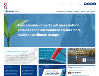 genomecanada.ca screenshot