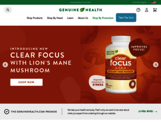 genuinehealth.com screenshot