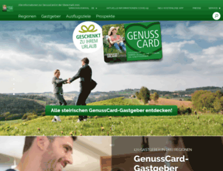 genusscard.at screenshot
