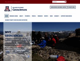geo.arizona.edu screenshot