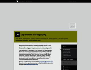geography.uoregon.edu screenshot