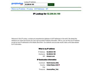 geoiplookup.net screenshot