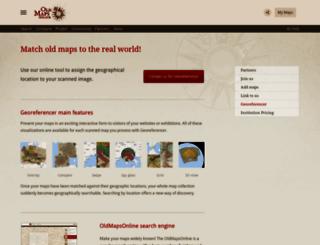 georeferencer.com screenshot