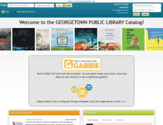 georgetown.biblionix.com screenshot