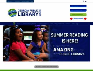 georgialibraries.org screenshot