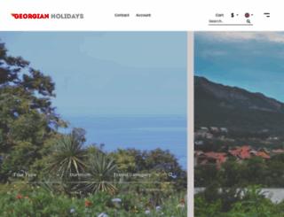 georgianholidays.com screenshot