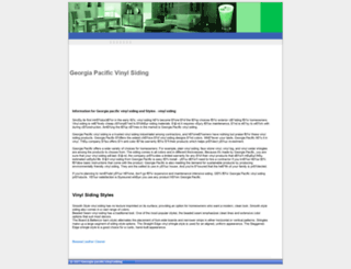 georgiapacificvinylsiding.gpari.info screenshot
