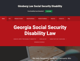 georgiasocialsecuritydisabilityattorney.com screenshot