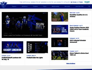 georgiastatesports.com screenshot