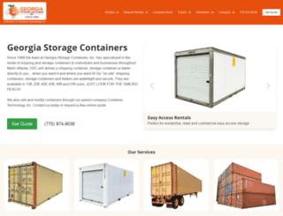 georgiastoragecontainers.com screenshot