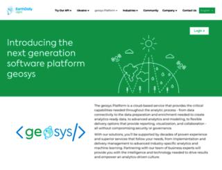geosys.com screenshot