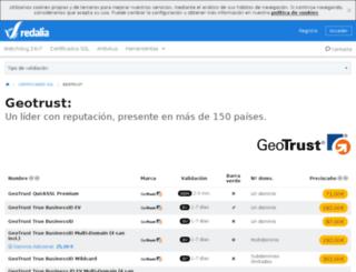 geotrust.redalia.es screenshot