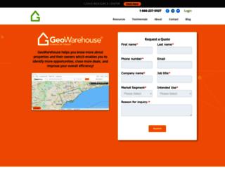 geowarehouse.ca screenshot