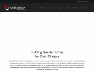 geraniumhomes.com screenshot