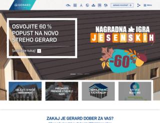 gerardroofs.si screenshot
