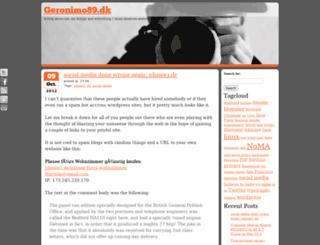 geronimo89.dk screenshot