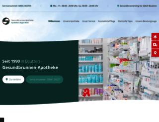 gesundbrunnen-apotheke.de screenshot