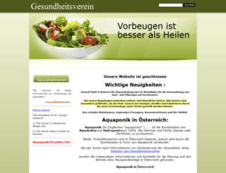 gesundheitsverein.at screenshot
