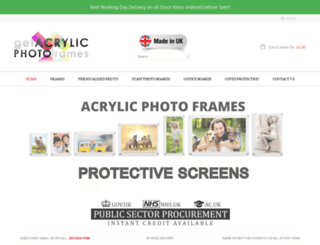 getacrylicphotoframes.co.uk screenshot