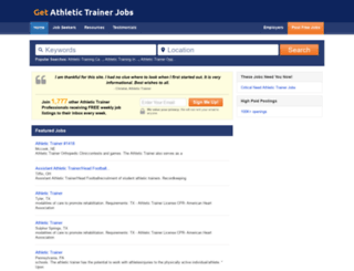 getathletictrainerjobs.com screenshot