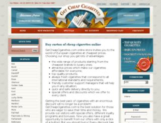 getcheapcigarettes.com screenshot