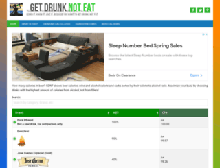getdrunknotfat.com screenshot