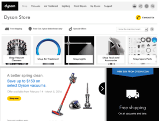 getdyson.com screenshot