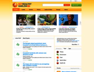 gethealthyharlem.org screenshot