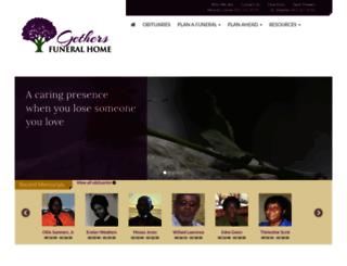 gethersfuneralhome.com screenshot