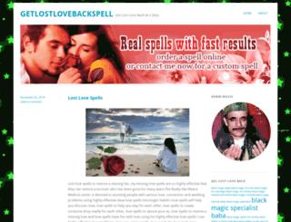 getlostlovebackspell.wordpress.com screenshot