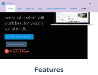 getmentia.com screenshot