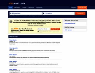 getmusicjobs.com screenshot