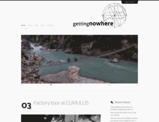 gettingnowhere.net screenshot