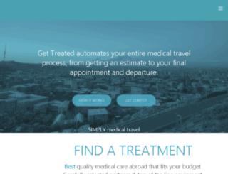 gettreatedmedicaltravel.com screenshot