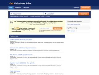 getvolunteerjobs.com screenshot