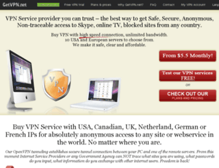 getvpn.net screenshot