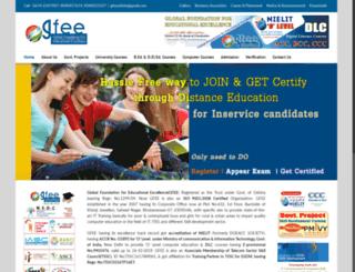 gfeeindia.org screenshot