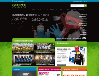 gforcesportswear.co.uk screenshot