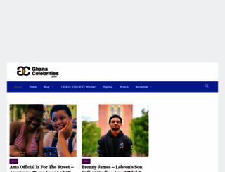 ghanacelebrities.com screenshot