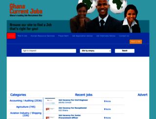 ghanacurrentjobs.com screenshot