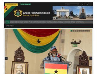ghanahighcommission.co.za screenshot
