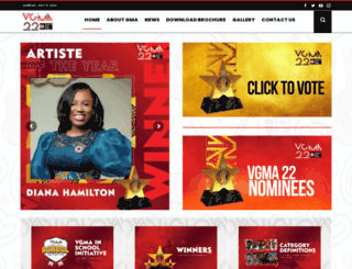 ghanamusicawards.com screenshot