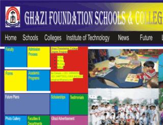 ghazifoundation.org screenshot