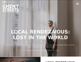 ghentstreets.com screenshot