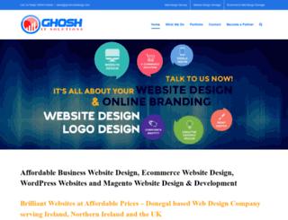 ghoshwebdesign.com screenshot