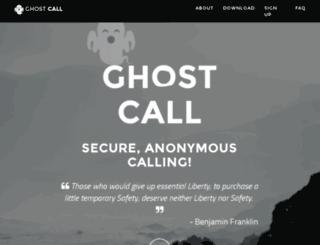 ghostcall.io screenshot