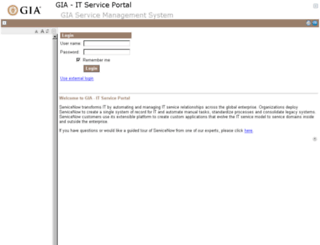 gia.service-now.com screenshot