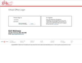 giawellness.myvoffice.com screenshot