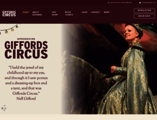 giffordscircus.com screenshot